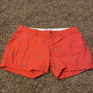 Old navy pink with blue anchor size 6 shorts